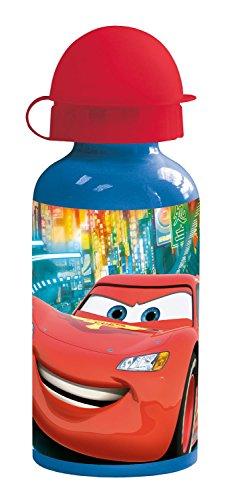 p:os 24451 Disney Pixar Cars Trinkflasche, Aluminium, 400 ml (Kinder-trinkflasche Cars)