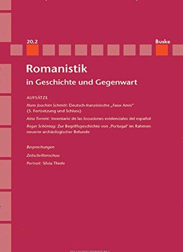 Romanistik in Geschichte und Gegenwart (RomGG) [Jahresabo]