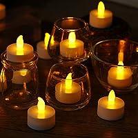 24 x LED Candele a lume di candela tremolanti a LED Candele tremolanti senza fiamma Fascino a forma di Tealight SicuroDescrizione:Queste candele sono alimentate a batteria, che sono incluse nella vendita.La luce calda incandescente ha un trem...