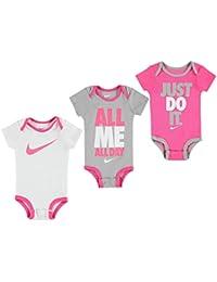 994e4a0ba683 Nike - Barboteuse - Bébé (garçon) Multicolore 3 Pack Pink Grey White