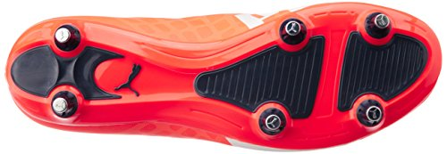 Puma Evospeed 5.4 Sg, Chaussures de football homme Orange - Orange (lava blast-white-total eclipse 01)