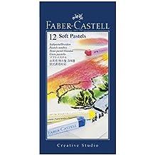 FABER CASTELL 21201 Pastel Carré Tendre Goldfaber Studio 66mm Brillant Intense Résistance Lumière Lot de 12 Gris