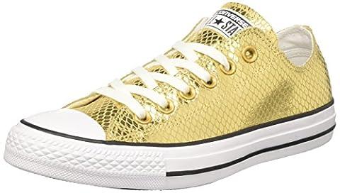 Converse Damen Ctas Ox Sneakers, Gold (Gold/Black/White), 37 EU