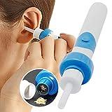 Abnaok Nettoyeur d'oreilles, Nettoyant Oreille retire le cérumen facilement (Bleu)