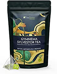 TreeSome Gymnema Sylvestor Wellness Whole Leaf Herbal Green Tea Blended with Organic Herbs for Weight Manageme