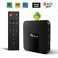 TX3 Mini 7.1 TV Box 2GB/16GB 4K TV Amlogic S905W Quad Core H.265 Decoding 2.4GHz WiFi - 2GB/16GB