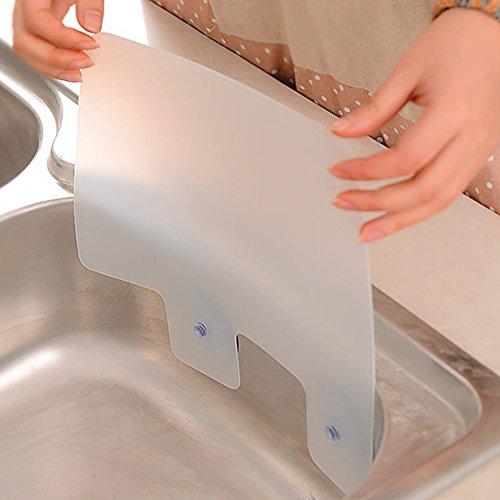 Estante para fregadero con ventosa, placa de retención de agua, para piscina, cocina, baño, accesorios de cocina, gadgets con ventosa