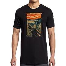 Diseño de pintura de obra el grito - Edvard Munch - surrealista - para hombre T-camiseta de manga corta