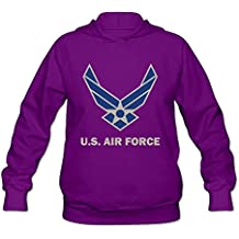 Women's United States Air Force Symbol Lightweight Hoodie Purple