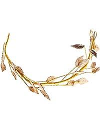 SimpleLife Leaf Novia Diadema para el Cabello Tiara Accesorios de Tocado-Novia Joyería para el Cabello para Mujer Tiara Diadema Nupcial Diadema