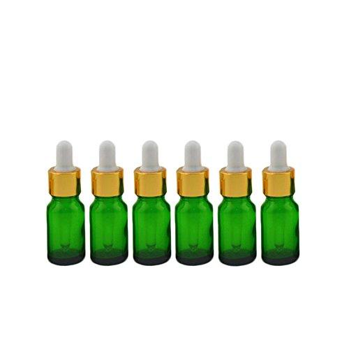 asche Mini Glasflaschen Aromatherapie Ölflasche Essenzen Flaschen Perfekt für Home/Reisen (15ml) ()