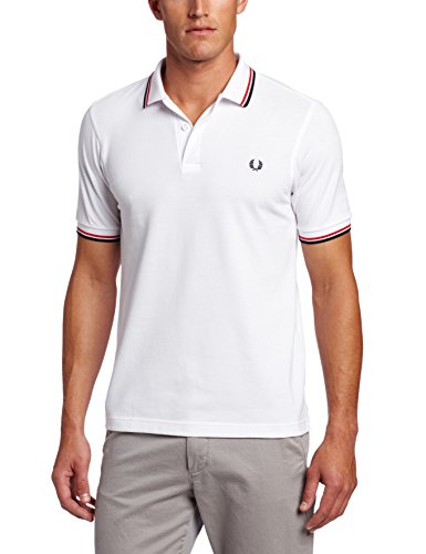 Fred perry m3600, polo uomo, bianco (white), large