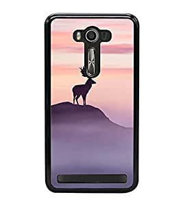 Fuson Designer Back Case Cover for Asus Zenfone 2 Laser ZE550KL (5.5 Inches) (Animal Stone mountain Shade Shadow India)