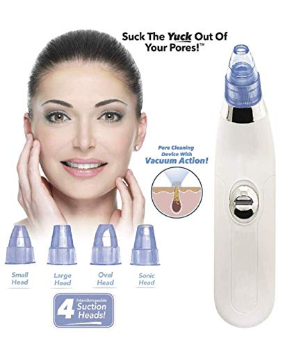 PETRICE Multi-function Blackhead Whitehead Extractor Remover Device - Acne Pimple Pore Cleaner Vacuum Suction Tool For Men And Women