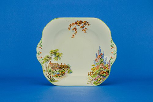Colourful Vintage PLATE Floral Ceramic Wood & Sons for sale  Delivered anywhere in UK