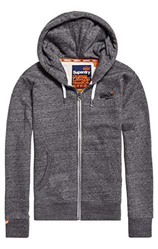 Superdry Herren ORANGE Label Ziphood Kapuzenpullover, Grau (Flint Grey Grit XJE), XX-Large