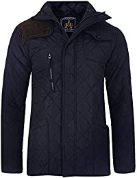 Soulstar Cord Shoulder Patch Quilted Padded Jacket