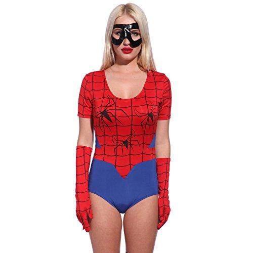Sexy Damen Kostuem Spidergirl fuer Halloween Mottoparty Karneval