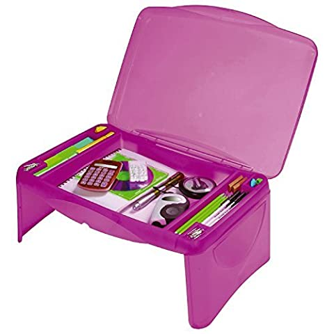 Kids Portable Folding Lap Desk Writing Table with Storage Compartments