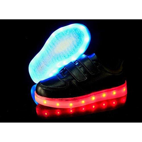 Piscando Pequena Luminoso Toalha present Led Recarregável Esportivos Fica Luz Crianças Unissex Junglest® Preto Calçados Brilho vd4x4qw