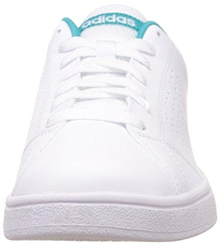 more photos 6a903 9f2b1 Adidas Advantage Clean Vs W, Scarpe Sportive Donna Multicolore (ftwr Blanc   Vert Shock ...