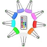 Minger 10W RGBW LED Lampen E27 Farbige Leuchtmittel Dimmbare Magische Atmosphäre LED Birnen mit Kabellos Fernbedienung