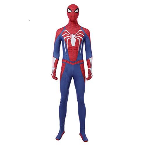 Steel Red Kostüm 2 - nihiug Avengers 3 Spider-Man Strumpfhose COS Steel Battlesuits COS Kostüme Kleidung Herren Halloween,Red-L