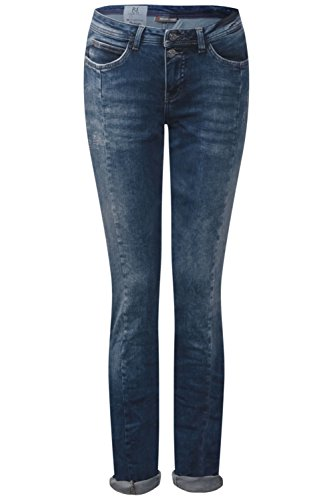 Street One -  Jeans  - Donna blue mat-mix random bleach
