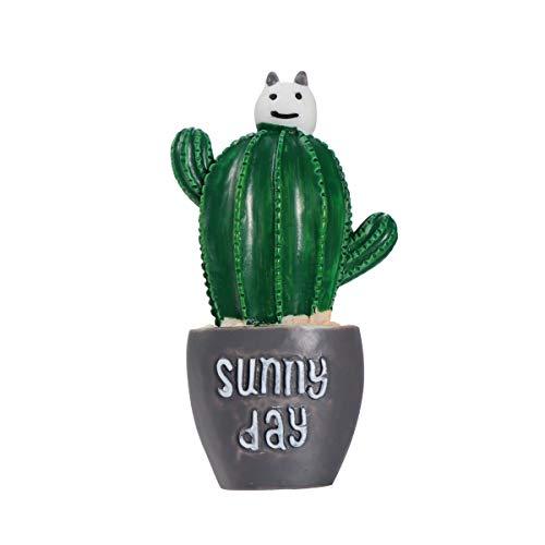 XIANGSHOU Simpatico deodorante per auto Cactus Balsamo solido Profumo Auto Aria condizionata Sfiato Profumo Clip Decorazione automatica Ornamento (4)
