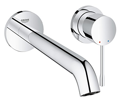 Grohe 19967001 Essence Wall-Mounted 2-Hole Basin Faucet (Chrome)