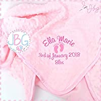Luxury Personalised pink bubble Baby Blanket,baby girls blanket, Baby Gift, Christening/Baby shower gift
