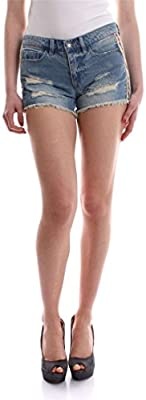 Only Onlcarrie Low Col Tape Dnm Shorts Bj9076, Pantalones Cortos para Mujer