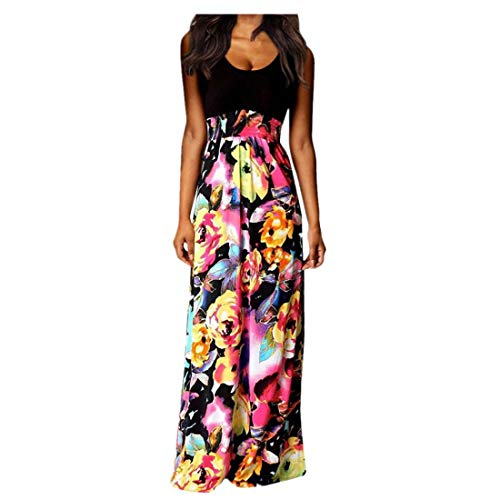 BHYDRY Frauen Boho Maxi Summer Beach Lange Cocktail Party Blumenkleid