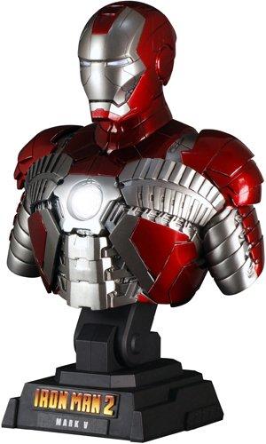 """[Hot Toys Busto: """"Iron Man 2"""" 1/4 Escala Busto Iron Man Mark 5 (Jap?n importaci?n / El paquete y el manual est?n escritos en japon?s)"""