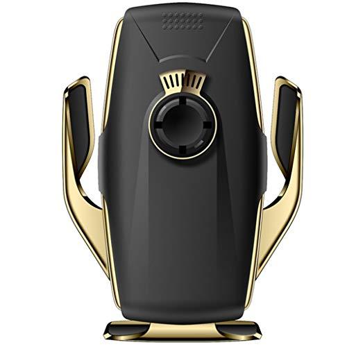 Eariy 10W Schnelle Kabellose Autoaufladung, Drahtlose LadegeräThalterung Car Air Vent Infrarot-Sensor Ladehalterung, Infrarotsensor FüR Luftreiniger, Kompatibel Mit Iphone 11 / Pro/Pro Max (Gold) -