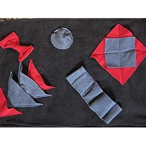 Leckerli Suchdecke schwarz als Suchspiel und zum Schnüffeln für Hunde