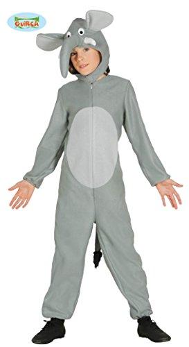 Guirca Elefant Kostüm für Kinder Tierkostüm Grau Süß Gr. 98-134, ()