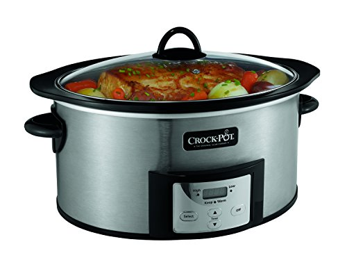 Crock-Pot SCCPVI600-S Countdown Slow Cooker with Stove-Top Browning, Stainless Finish, 6-Quart