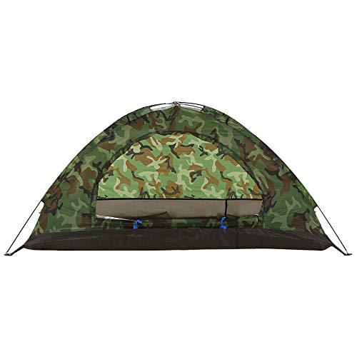 ZXCVBW 2 Personen Zelt Ultraleicht Single Layer Wasserbeständigkeit Camping Zelt PU1000mm mit Tragetasche für Wandern Reisen 2019, Schwarz