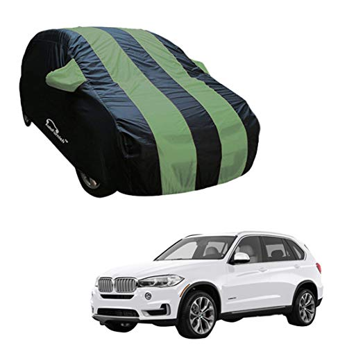 Autofurnish Green Stripe Car Body Cover Compatible with BMW X5 - Arc Blue