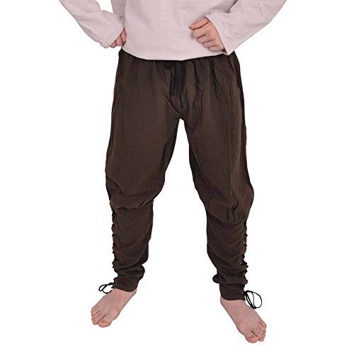 ingerhose dunkelbraun, mit seitlicher Schnürung, sehr bequem - M (Bauer Tanz Kostüm)