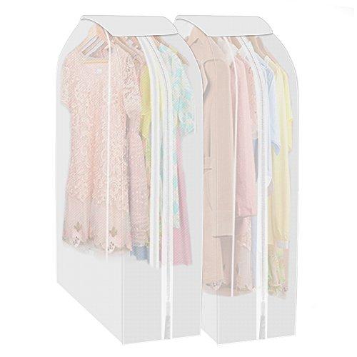 GHB 2 Kleiderschutzhülle Kleidersack Anzug Mantel Kleidung Staubschutz mit Reißverschluss Kleidung Lagerung Hängetasche