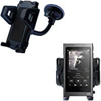 Windshield Vehicle Mount Cradle suitable for the Sony Walkman A30 - Flexible Gooseneck Holder with Suction Cup for Car / Auto. Lifetime Warranty
