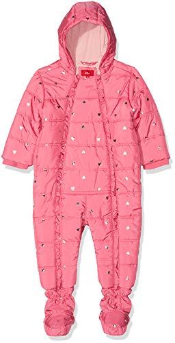 s.Oliver RED LABEL Unisex - Baby Winter-Overall mit Glitzerherzchen pink AOP 86