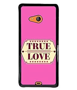 PrintVisa Designer Back Case Cover for Microsoft Lumia 540 Dual SIM (Love Lovely Attitude Men Man Manly)