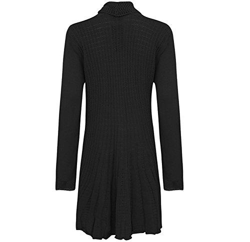 Cardigan pour femme en maille et crochet grande taille FR 444648505254 Noir - Charbon