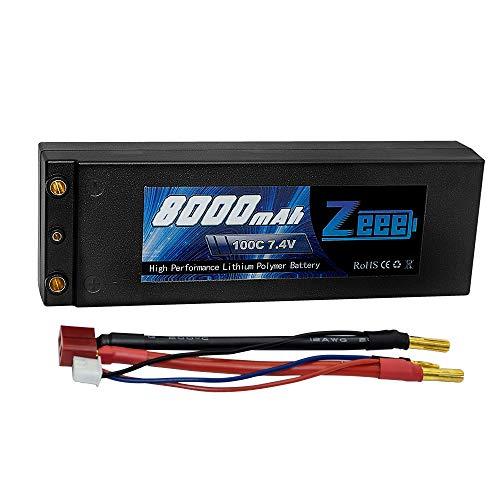 Zeee 8000mAh 100C 2S 7.4V Hartschale RC Lipo Batterien mit 4.0 mm Banana to Deans Plug für RC Evader BX Auto Car Truck LKW Truggy RC Hobby