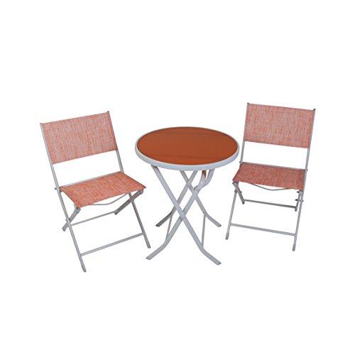 greemotion Balkon-Set 120288, bestehend aus 2 x Stuhl und 1 x Tisch, alle Teile der Sitzgruppe...