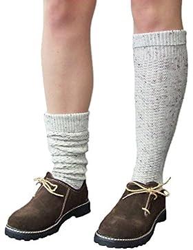 Trachtensocken lang Natur meliert - Schöne Strick Socken für Damen oder Herren - Perfekt zur Lederhose