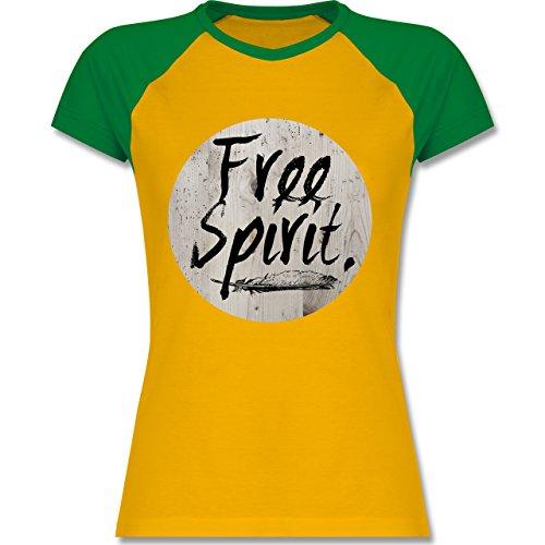 Shirtracer Statement Shirts - Free Spirit - Zweifarbiges Baseballshirt/Raglan  T-Shirt für Damen